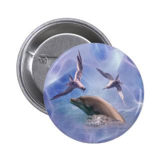 Pájaros del delfín y del salto pins