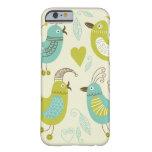 pájaros del dibujo animado del cate funda de iPhone 6 barely there