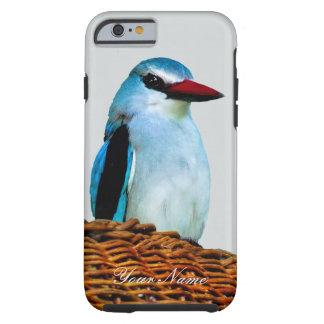 Pájaros del martín pescador del arbolado funda para iPhone 6 tough