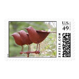 Pájaros del metal sellos