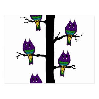 Pájaros del monstruo tarjeta postal