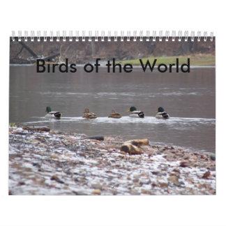 Pájaros del mundo calendarios