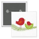 Pájaros del navidad en árbol pins