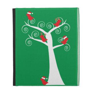 Pájaros del navidad en un caso de Caseable del árb