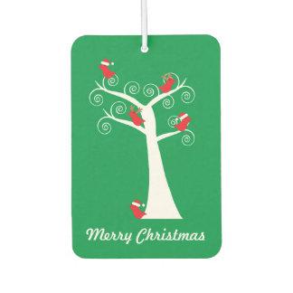Pájaros del navidad en un personalizable del árbol