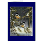 Pájaros del navidad felicitacion