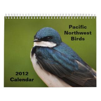 Pájaros del noroeste pacíficos calendario de pared