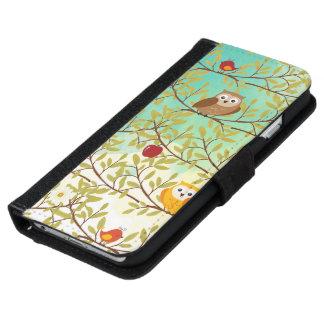 Pájaros del otoño funda cartera para iPhone 6