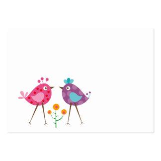 pájaros del polkadot tarjetas de visita grandes
