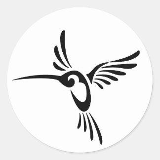 Pájaros del tarareo pegatina redonda