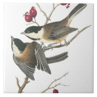 Pájaros del vintage teja cerámica