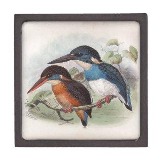 Pájaros del vintage caja de joyas de calidad