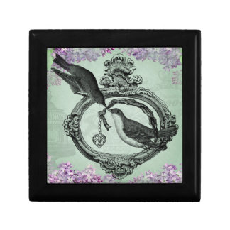Pájaros del vintage con ropa y regalos del Locket Caja De Joyas