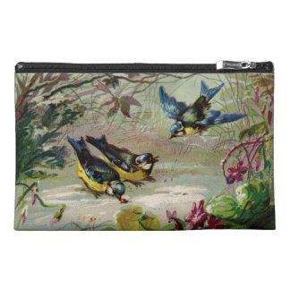 Pájaros del vintage en el bolso del accesorio del