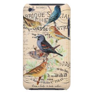 Pájaros del vintage en tipografía antigua