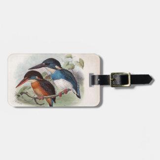 Pájaros del vintage etiqueta de maleta