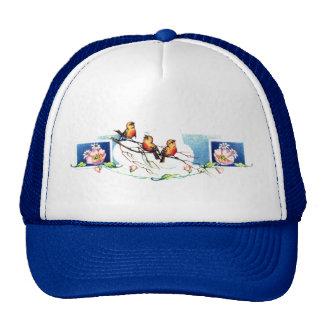Pájaros del vintage gorras de camionero