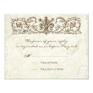 Pájaros del vintage, huevo azul - tarjeta de la invitación 10,8 x 13,9 cm