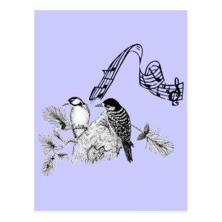 Pájaros del vintage tarjeta postal