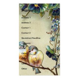 Pájaros del vintage tarjetas de visita