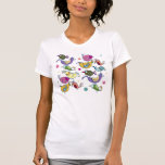 Pájaros divertidos camisetas