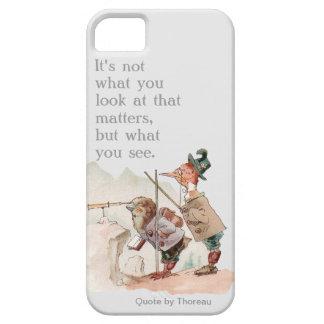 Pájaros divertidos con cita de motivación iPhone 5 funda