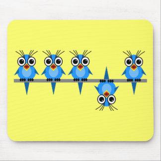 pájaros divertidos tapetes de ratón