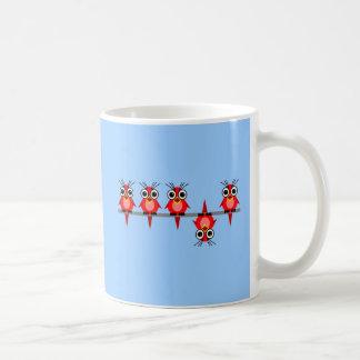 pájaros divertidos tazas de café