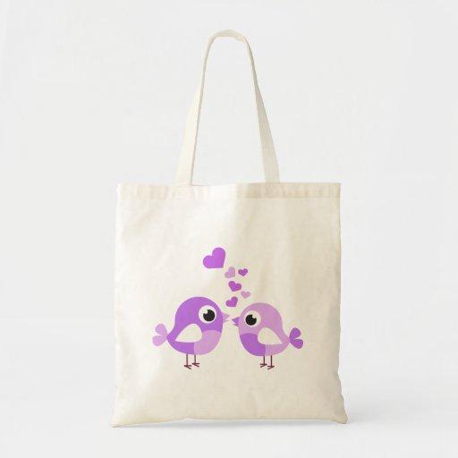 Pájaros dulces de la lavanda bolsa