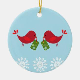 Pájaros dulces del navidad - ornamento adornos