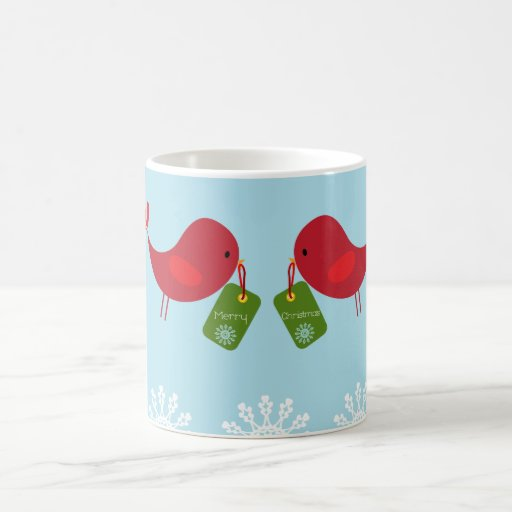 Pájaros dulces del navidad - taza