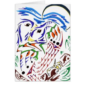 Pájaros el dormir tarjeta pequeña