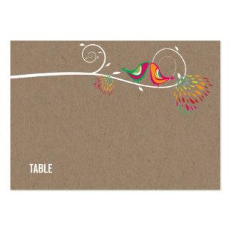 Pájaros elegantes del verano que se besan que tarjetas de visita grandes