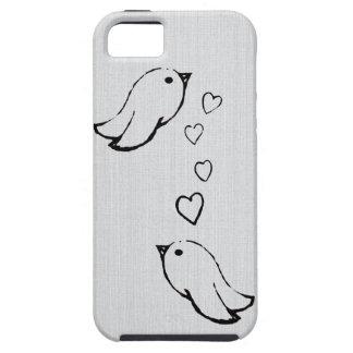 Pájaros en amor iPhone 5 funda
