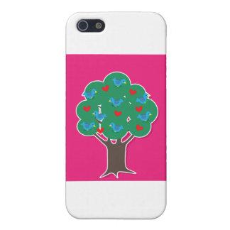 Pájaros en árbol iPhone 5 cárcasa