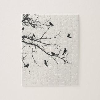 Pájaros en blanco y negro puzzle