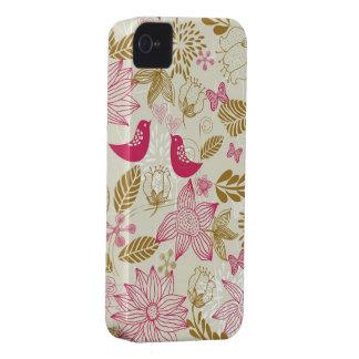 pájaros en caso del iphone 4/4s del amor apenas al iPhone 4 Case-Mate cobertura