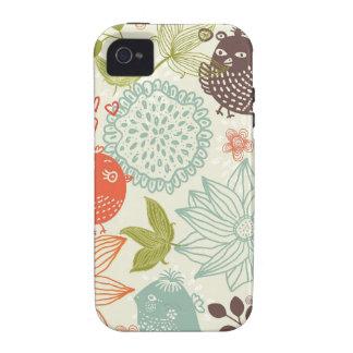 pájaros en caso duro del iphone 4/4s del amor iPhone 4/4S funda