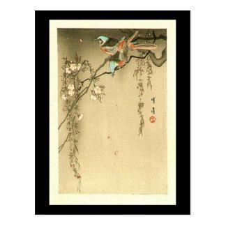 Pájaros en cerezo de Seitei Watanabe 1851 - 1918 Postales