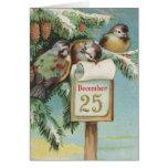 Pájaros en Decemeber 25to Felicitacion