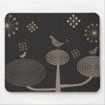 Pájaros en el amor Design3 Mousepad negro Tapete De Ratones