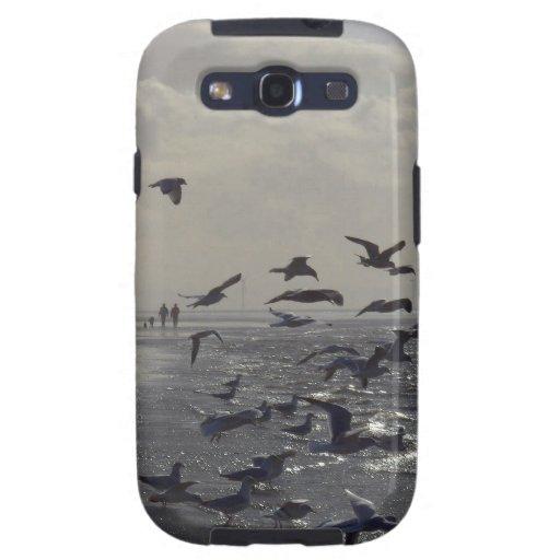 Pájaros en el borde de las aguas samsung galaxy s3 cárcasa