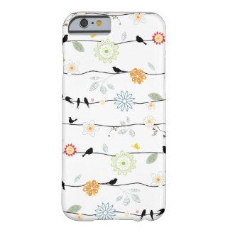 Pájaros en el caso del iPhone 6 de las vides Funda De iPhone 6 Barely There