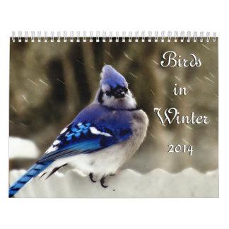 Pájaros en invierno calendario