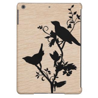Pájaros en las ramas - caja única del aire del carcasa iPad air
