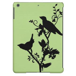 Pájaros en las ramas - caja única del aire del funda iPad air