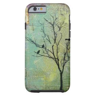 """Pájaros en los árboles """"necesidad """" funda para iPhone 6 tough"""