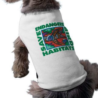 Pájaros en peligro camisetas de perro