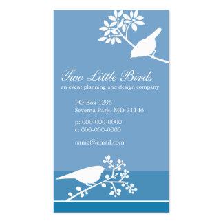 Pájaros en ramas tarjetas de visita