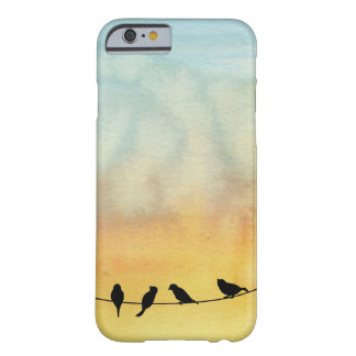 Pájaros en un alambre funda para iPhone 6 barely there